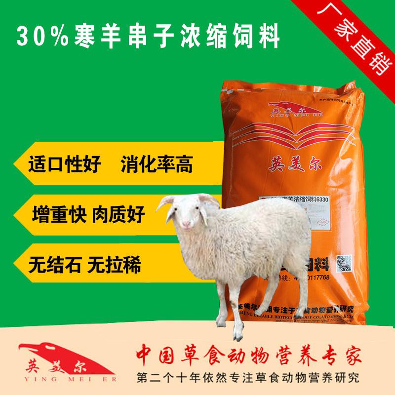 寒羊串子专用的浓缩饲料 寒羊串浓缩料 寒羊串后期育肥催肥长肉浓缩饲料