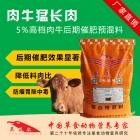 肉牛猛长肉—5%肉牛专用复合预混料饲料 后期快速催肥 肉牛预混料